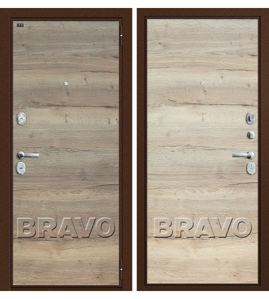 Входная дверь T3-300 Tobacco Oak/Natural Oak
